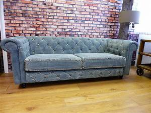 blue denim chesterfield sofas blue vintage couch made With denim sofa bed