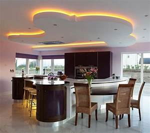 Lighting for kitchen photography : Unique led lighting for modern kitchen decorating ideas