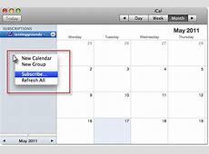 Subscribing to the calendar via iCal – iMeet Central Help