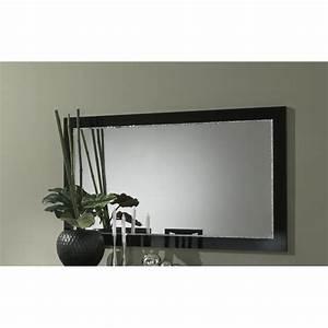 Miroir 180 Cm : miroir de salle manger design 180 cm laqu noir talara ~ Teatrodelosmanantiales.com Idées de Décoration