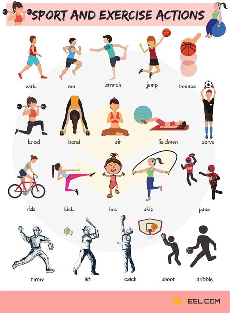 learn sport  exercise verbs  english ingles