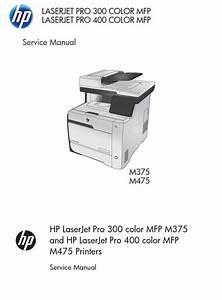 Hp Laserjet M375 Pro Color Mfp Series Printer Service