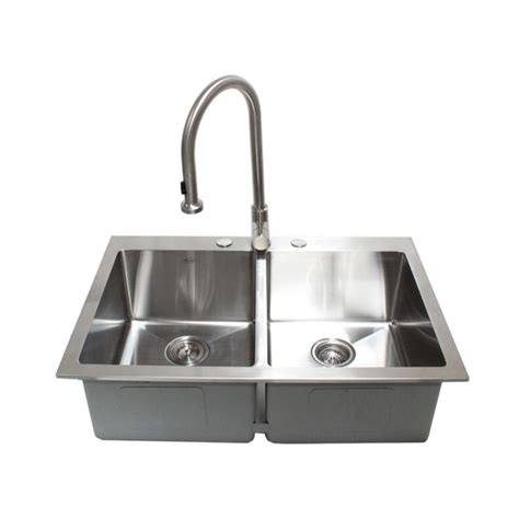 drop in stainless steel kitchen sink 33 inch top mount drop in stainless steel bowl 9625