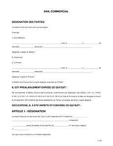 modèle de bail commercial le bail commercial ou bail 3 6 9 contenu du contrat et