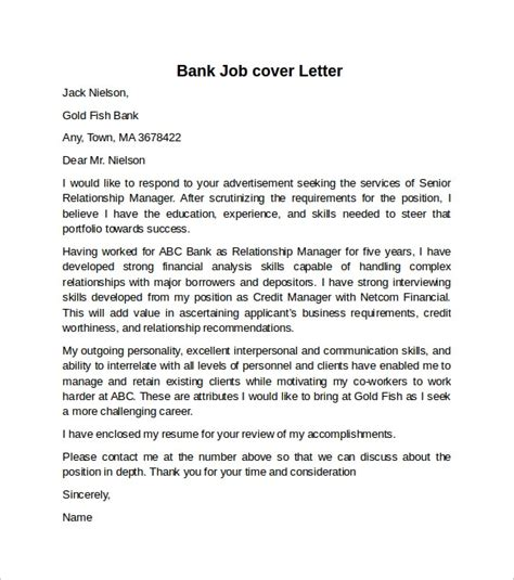 sample cover letter  investment banking job