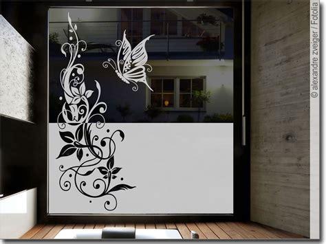 Fensterfolie Schmetterling Ranke Sichtschutzfolie