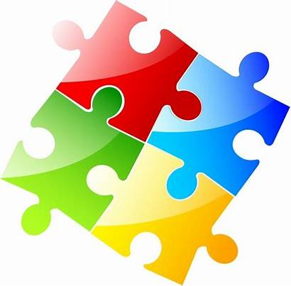 Puzzle Jigsaw Clip Clipart Pieces Vector Piece