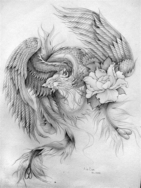 Pin by Alan Best on FANTASY COLOURING PAGES | Phoenix tattoo sleeve, Phoenix tattoo design