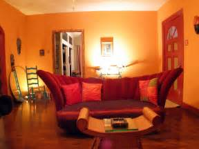 interior design modern living room avante garde red couch