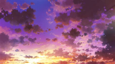 Anime Sky Wallpaper - 2560x1440 anime sky sunset clouds wallpapers