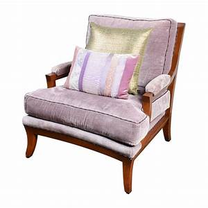 87 OFF Purple Velvet Accent Arm Chair Chairs