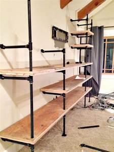 Diy, Industrial, Pipe, Shelves