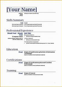 9 best resume formats free samples examples format With easy resume templates with fill in the blanks