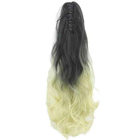 Soowee 613 Blonde Wavy Ombre Claw Ponytail Synthetic Hair