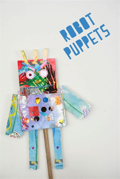 craft ideas for 13 year olds make robot puppets meri cherry 7534