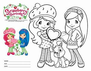 Beautiful Strawberry Shortcake Coloring Page For Kids Of A