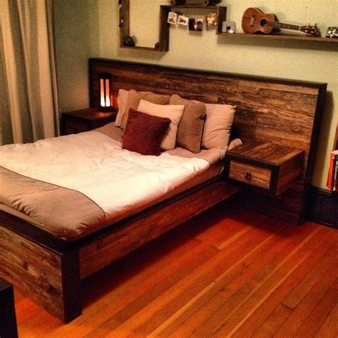 headboad  nightstand diy   home pinterest