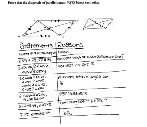 proving quadrilaterals are parallelograms worksheet free printable proving that a quadrilateral is a