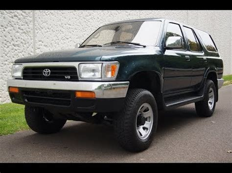 how make cars 1995 toyota 4runner navigation system 1995 toyota 4runner 5 speed manual 4wd youtube