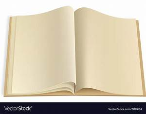Blank book pages template Royalty Free Vector Image