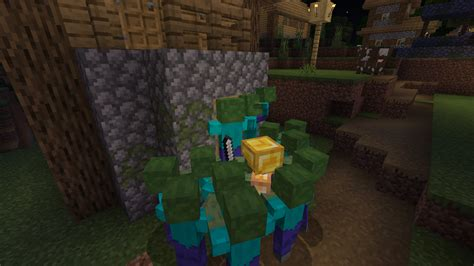 zombie siege minecraft zombies village horde gamepedia wiki pixels file official history progress trapped