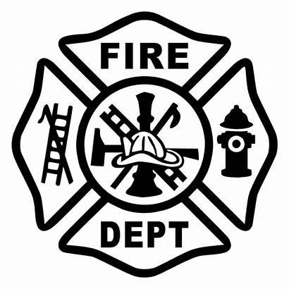 Cross Firefighter Maltese Fire Department Dept Decal