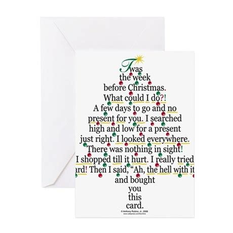christmas tree gift poem card greeting cards pk o by