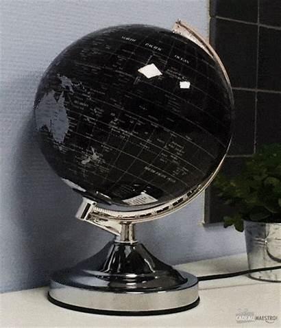 Globe Terrestre Lumineux Noir 20cm Cadeau Maestro