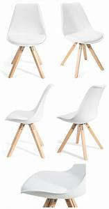 Chaise Design Contemporain : 4 chaises fjone noirs design contemporain nordique ~ Nature-et-papiers.com Idées de Décoration