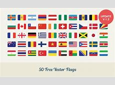 Free Download 50 Flat Vector Flags Dreamstale