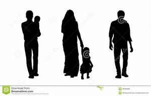 Indian People Walking Silhouettes Set 3 Stock Illustration ...