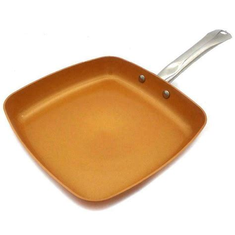 stick copper frying pan  ceramic coating  induction cookingoven  ebay