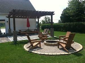 Paver Patio Ideas With Fire Pit by A Diy Back Yard Transformation Pergola Deck Amp Fire Pit