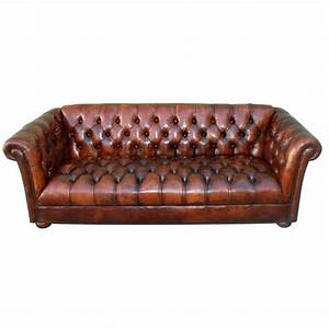 Sofa Vintage Leder : vintage leather tufted chesterfield style sofa c 1930 39 s at 1stdibs ~ Indierocktalk.com Haus und Dekorationen