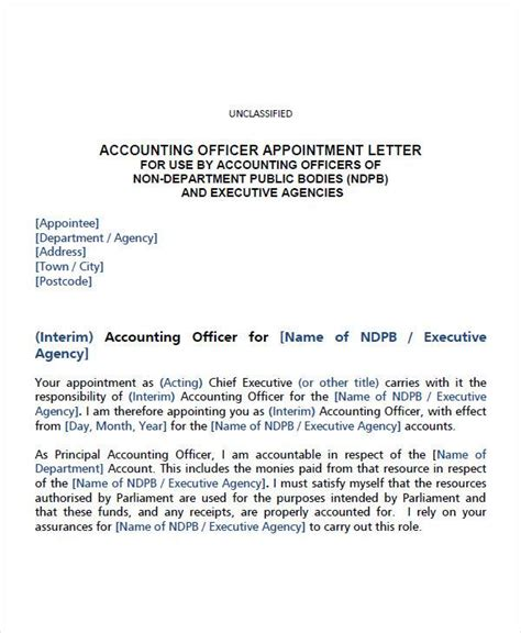 appointment letter uganda appointment letter sle for appointment letter format account assistant 28 images 35339