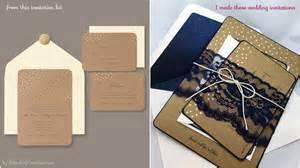 diy wedding invitations my lace diy rustic wedding invitations