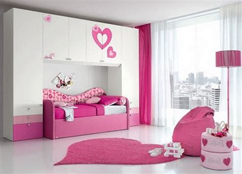 Awesome Simple Bedroom With White Bed And Sofa Also Pink