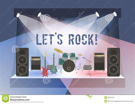 rock concert stage stock vector image