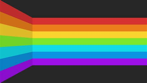 abstract moving rainbow stripes transition background