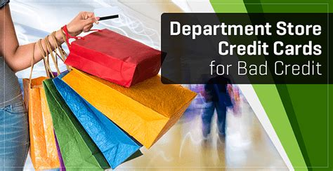 """Below is a list of unsecured cards for bad credit score. 7 """"Department Store"""" Cards for Bad Credit (2020)"""