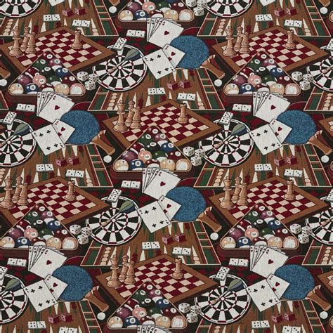 themed fabric by the yard j9400z billiard themed chess darts dice and pool 9082