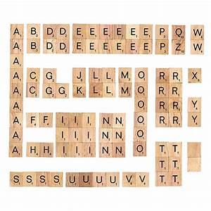 100pcs polished wooden scrabble tiles letter alphabet With letter tile games