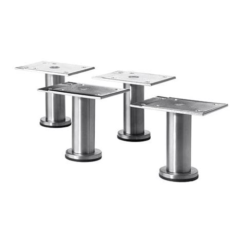 stainless steel legs for kitchen cabinets capita leg stainless steel 8 cm ikea 9414