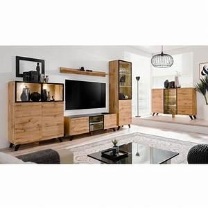 Meuble Salon Bois : ensemble salon bois et verre lumineux jao cbc meubles ~ Teatrodelosmanantiales.com Idées de Décoration