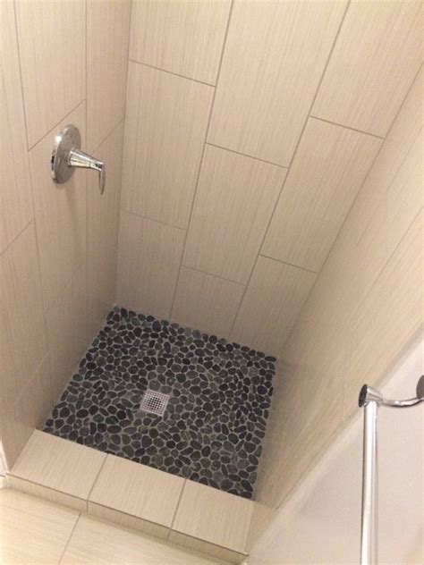 pebble shower floors for tiled showers how to install