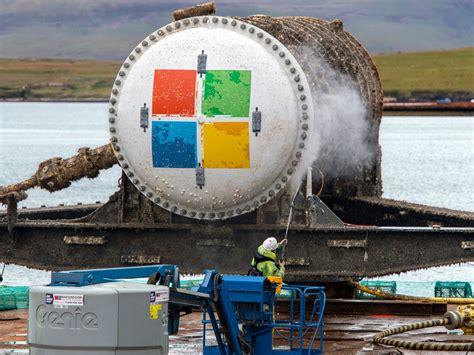 microsoft sank  data centre  size   shipping