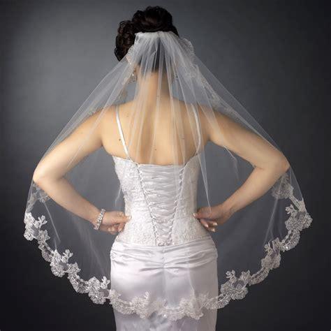 lace applique lace applique edge fingertip wedding veil