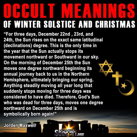 Modification Order Meaning by Occult Meanings Of Winter Solstice And