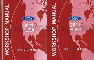 2009 Ford Flex Service Shop Repair Manual Set Oem 2 Volume Set And The Wiring Diagrams Manual