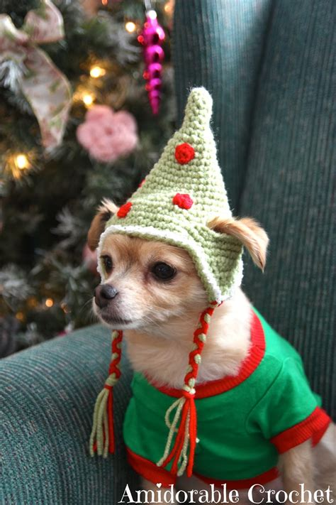 hat dog crochet pattern elf patterns christmas chihuahua hats pet sweater dogs diy funny cute these cat stuffed scarf crocheting